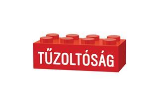 LEGO GLK070 - LEGO gravírozott kocka - Tűzoltóság (piros)