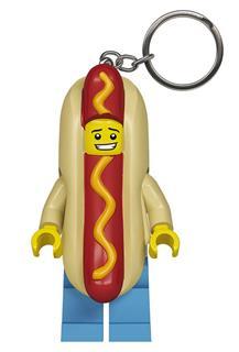 LEGO LGL-KE119 - LEGO világítós kulcstartó - Hotdog ember