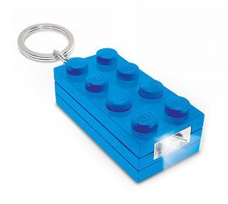LEGO LGL-KE5B - LEGO kiegészítő - 4x2-es kék kocka világítós kulcstartó