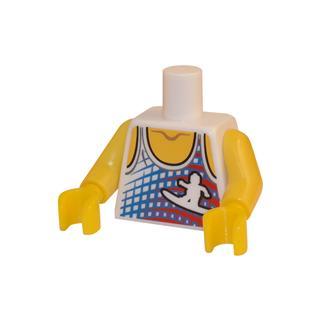 LEGO LSK008 - LEGO Alkatrészek - Minifigura torzó (008)