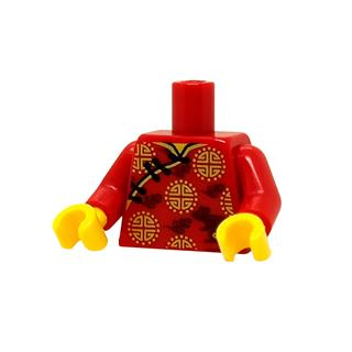 LEGO LSK1289 - LEGO alkatrész - Minifigura torzó