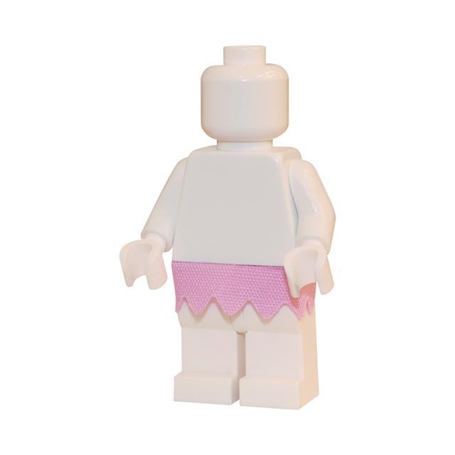 LEGO LSK290 - LEGO Alkatrészek - Rózsaszín cikk-cakk szoknya (290)