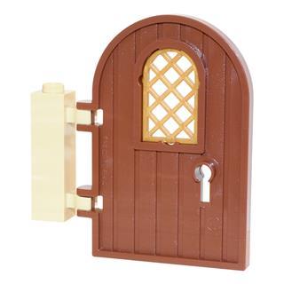 LEGO LSK467 - LEGO Alkatrészek - Boltíves fa ajtó (467)