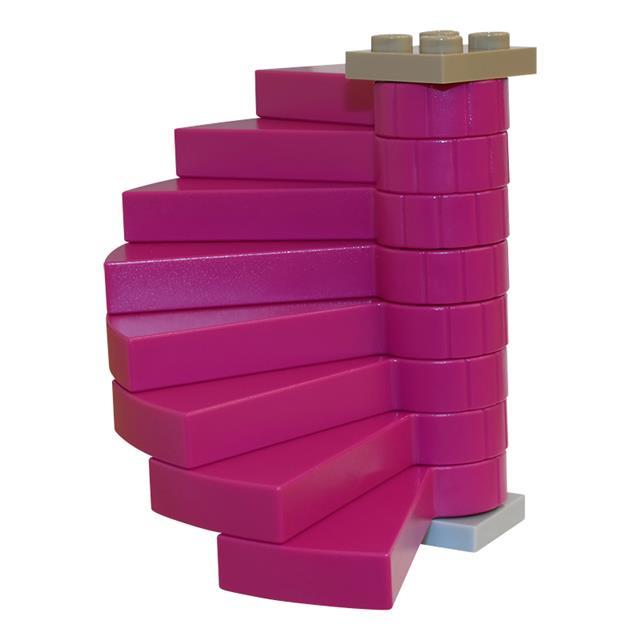 LEGO LSK485 - LEGO Alkatrészek - Lila csigalépcső (485)