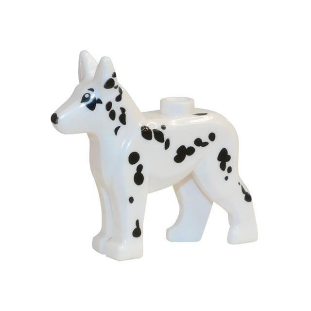 LEGO LSK508 - LEGO Alkatrészek - Fehér pöttyös kutya (508)